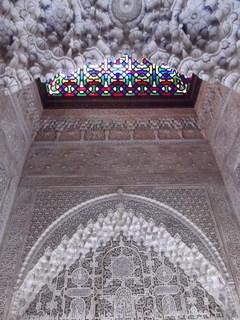 アルハンブラ宮殿ステンドガラス窓DSCF0477.JPG